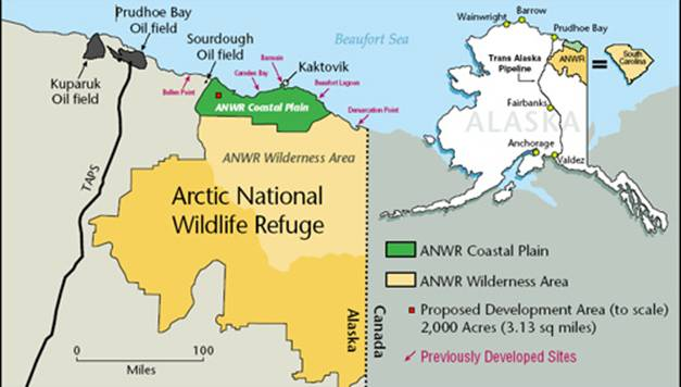 Proposed area in ANWR